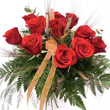 Ramo de 12 rosas rojas sant jordi