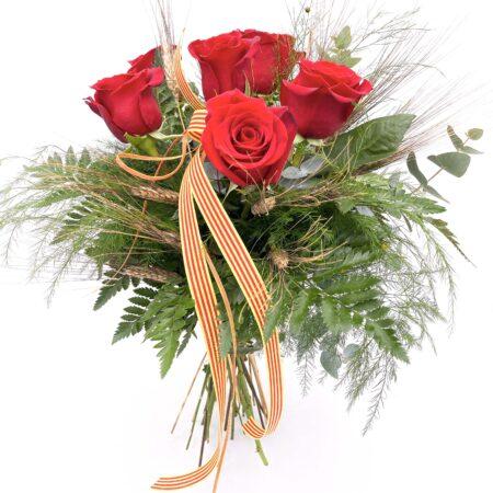Ramo de 6 rosas rojas sant jordi